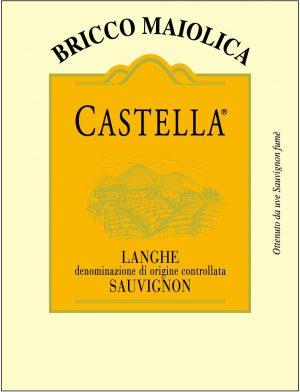 Etichetta Castella Langhe Sauvignon Fumé DOC - Bricco Maiolica