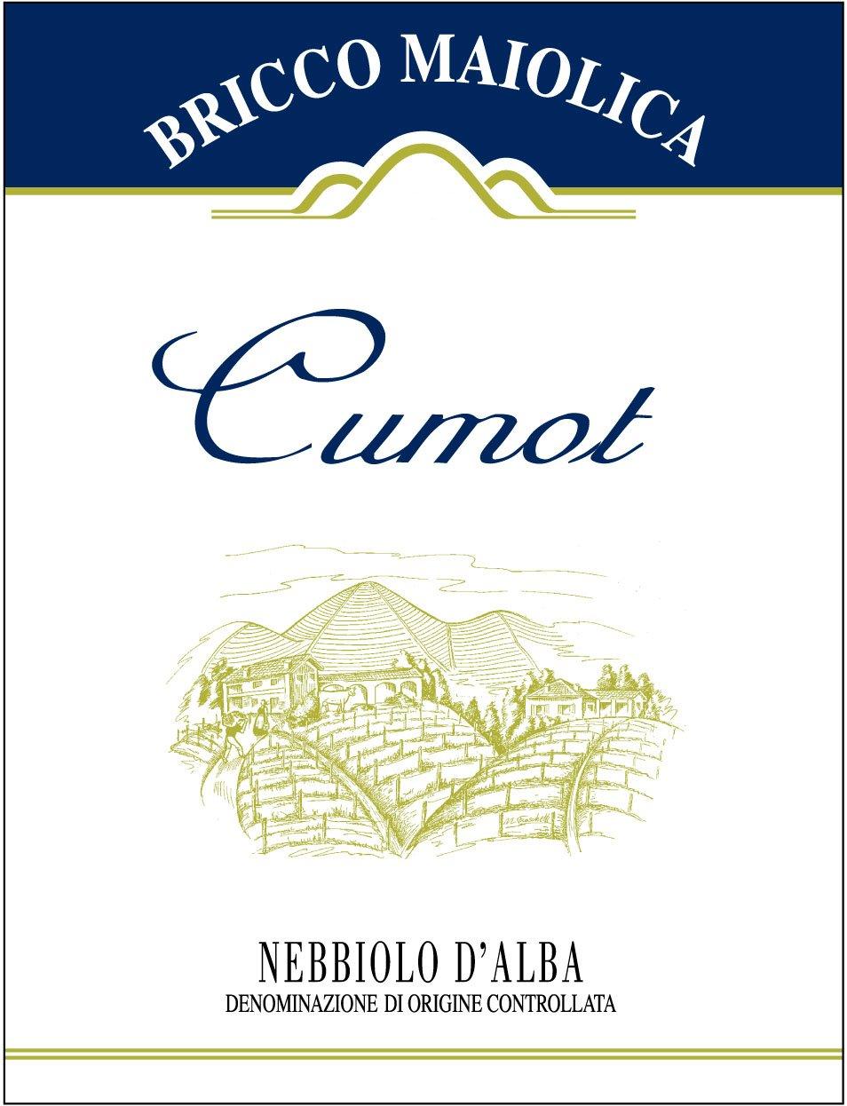 """Download Etichetta """"Cumot"""" <br />Nebbiolo d'Alba Superiore DOC"""
