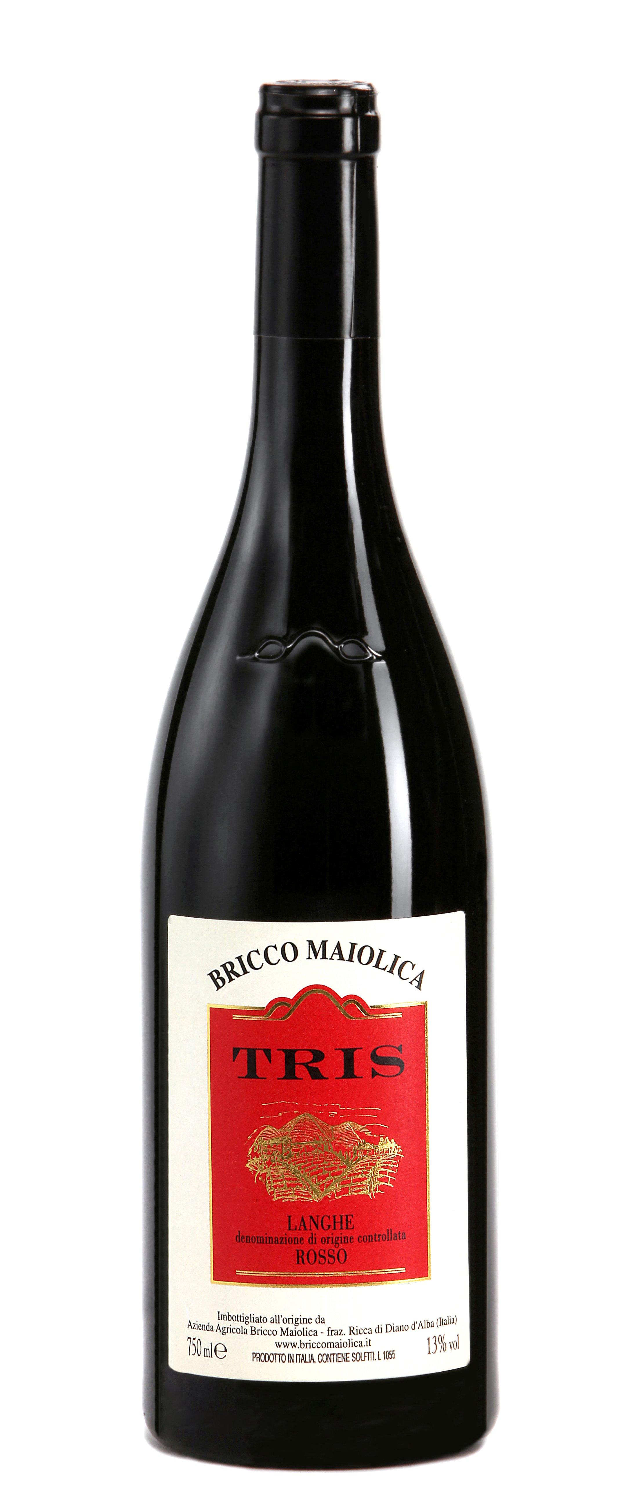 """Download Foto Bottiglia """"Tris"""" <br />Langhe Rosso DOC"""